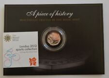 2012 London Olympics Cycling 50p Silver Coin toned/toning