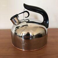 Vintage Paul Revere Ware 1801 Whistling Tea Kettle Pot Copper Bottom CU15e China