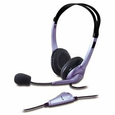 Stereo Genius HS-04S Headset / Headphones with Microphone 3.5mm Mic for Skype PC