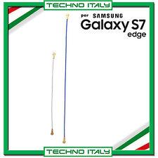 COPPIA BLU E BIANCO ANTENNA COASSIALE GSM 89mm PER SAMSUNG G935 GALAXY S7 EDGE