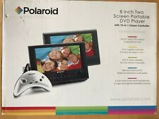 "Polaroid DPA-08055S 8"" Two Screen Portable DVD Player w/ 15-in-1 Game Controller"