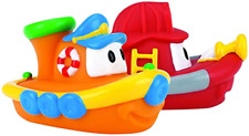 Floating Boat Bath Toys Tub Tugs Soft Textured Fun Interactive Bath Toys 2 Pack