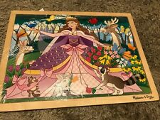 Melissa and Doug Wooden puzzle     Woodland Princess   24 piece