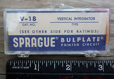 NOS VINTAGE RADIO PART V-18 VERTICAL INTERGRATOR SPRAGUE PRINTED CIRCUIT Q