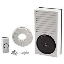 Battery Powered Doorbell Full Kit: Door Bell Push, Bell, Wire - Friedland Newlec