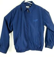 Guy Harvey By Aftco Bluewater Full Zip Jacket Blue Mens m king fish embroidered