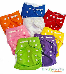 Baby Modern Cloth Nappies, Adjustable + Microfibre,Bamboo and Hemp Nappy Inserts
