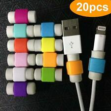 20PCS Protector Saver Cover for Apple iPhone Lightning Charger Cable USB Cord BE