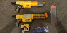 Nerf Recon & Alpha Trooper Blasters + hand gun, big18 round  Magazine + 18 Darts