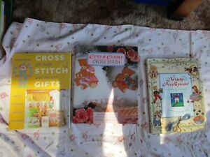 BULK BUY #3, Three Hard Cover Cross Stitch Books, Baby, Cute & Cuddly, Nursery