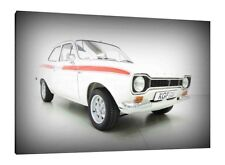 Mk1 Ford Escort RS Mexico - 30x20 Inch Canvas Art - Framed Picture Print