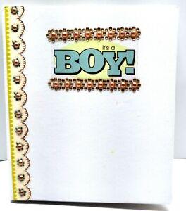 Baby Boy Waterfall Style Scrapbook Album Keepsake - Handmade