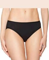 Amazon Essentials Women's Cotton Stretch High-Cut Bikini Panty Black Medium