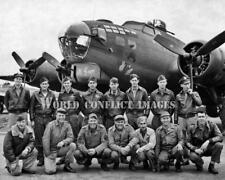 USAAF WW2 B-17 Bomber Old Gappy/Topper Crew 8x10 Nose Art Photo 379th BG