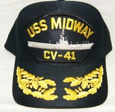 US NAVY CAP ORIGINAL USS MIDWAY CV-41 Made in USA Double Eggs One Size Fits All