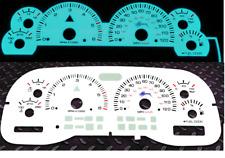 97-99 DODGE DAKOTA DURANGO AUTOMATIC INDIGLO GLOW GAUGE DASH CLUSTER