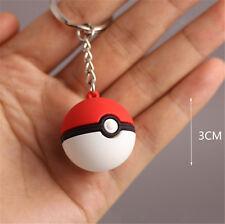 3D Pokemon Keychain pokeball Shape Go Key Ring Poke Ball Pocket Key Keyring