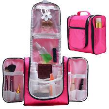 Hanging Toiletry Bag Travel Cosmetic Kit Organizer Makeup Bag Girls Women Pink
