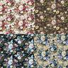 50x145cm Rose Flower Printed Cotton Fabric Sheets DIY Handmade Bows Craft