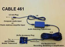 Cable 461 Audio Recording & Streaming Adaptor Motorola MOTOTRBO XPR4500 XPR4550