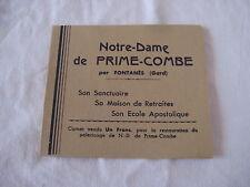 Carnet de 12 timbres Notre-Dame de PRIME-COMBE par Fontanès