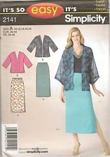 Simplicity Sewing Pattern 2141 It's So Easy Misses Skirt Kimono Size 10-16 uncut