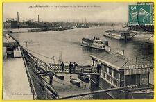 cpa ALFORTVILLE Confluent SEINE et MARNE ENTREPOT d'IVRY Bateaux Parisiens