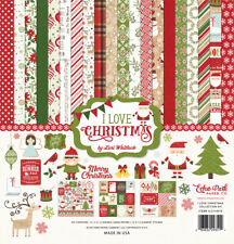 Echo Park Paper I Love CHRISTMAS 12x12 Collection Kit Elf Scrapbook Planner