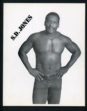 S.D. Jones Wrestling Champion circa 1970's Promo Photo Wrestler
