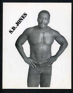 S.D. Jones Wrestling Champion circa 1970's Promo Photo Wrestler