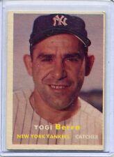1957 Topps Baseball Card Yogi Berra New York Yankees Small Spot Back Nr Mint # 2