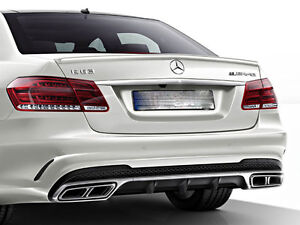 Mercedes E63 AMG Diffuser and Tailpipes Package W212 S212 Models from 04/2013