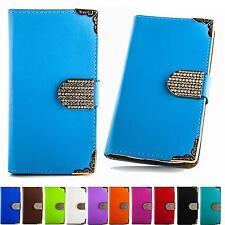 Strass Book Style Handy Tasche Schutz Hülle Flip Cover Glitzer Etui Case B306