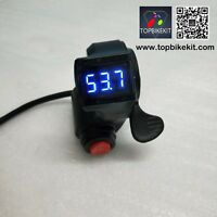 24V/36V/48V/60V Thumb Throttle 3speed switch with LED voltage display for ebike