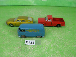 vintage matchbox diecast models x3 jeep 71 bmc car 56 & 34 volkswagen 2133