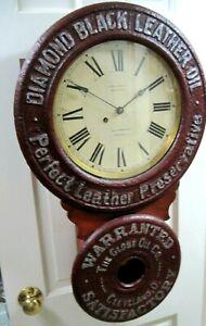 VINTAGE EDW. BAIRD ADVERTISING CLOCK, SETH THOMAS- A BEAUTY