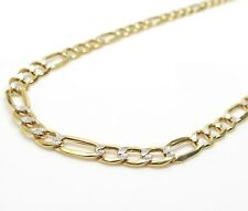 10K Gold Diamond Cut Figaro Chain 24 Inches 5.5MM 10.9 Grams