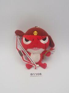"""Keroro Gunso B1108 GIRORO Bow Keychain Mascot 3.5"""" Plush Toy Doll Japan"""
