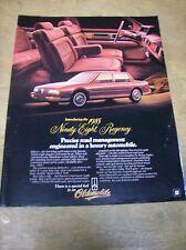 Original 1985 Oldsmobile 98 Regency Magazine Ad