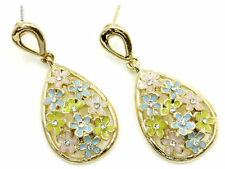 Crystal Flowers & Plants Drop/Dangle Enamel Fashion Earrings