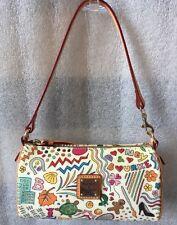 Dooney & Bourke Whimsy Multi-color White Barrel Bag