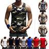 Men's Tank Top Sleeveless Muscle T-Shirt  Camo A-Shirt Hip Hop GYM Bodybuilding