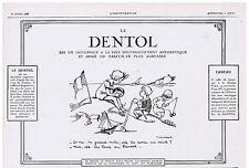 PUBLICITE ADVERTISING 044 1928 DENTOL dentifrice antiseptique