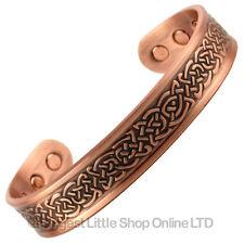 Neuf Cuivre Bracelet Magnétique Danois Design 6 Aimants Santé Terre Rare Ndfeb