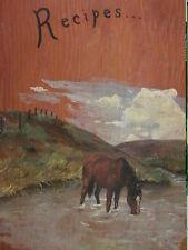 Hand Painted/Handmade 2 ring Wooden Recipe Binder Wonderful artwork of Horse
