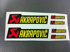 6 Adesivi Stickers AKRAPOVIC resistente al calore