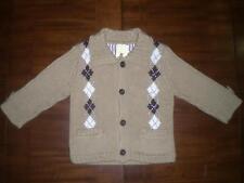 Gap Chunky Argyle Cardigan Size 6-12 Months NWT