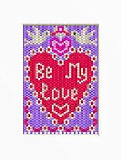 Be My Love Pony Bead Banner Pattern