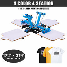 4 Color 4 Station Silk Screen Printing Machine T Shirt Press Equipment Diy