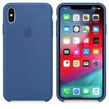Genuine Apple Silicone Case for iPhone XS Max - Delft Blue - MVF62ZM/A - New